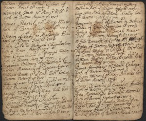 Records of the Reverend Thomas Cheever