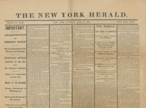 New York Herald, 15 April 1865