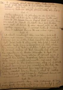Glenn Welmer Douglass diary, 20 September 1909