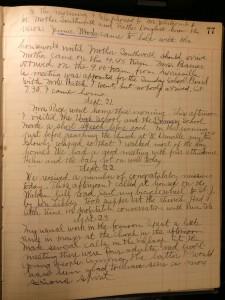 Glenn Welmer Douglass diary, 20 September 1909 continued