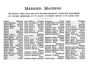 Married Maidens