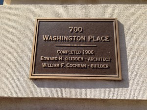 Washington Place plaque