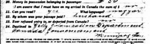 2014 McClure blog post canada ocean arrival 1923