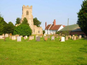 A view of St. Bartholomew's Church, Groton, Suffolk