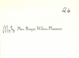 Constance Plummer card
