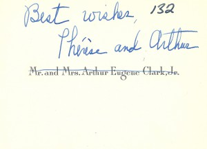 Mr and Mrs Arthur Eugene Clark card