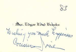 Mrs Edgar Lord Brooks card