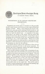 1904 Circular on Epitaphs p1