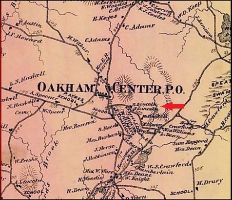 Oakham Center map