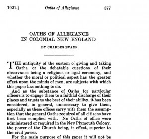 oaths of allegiance