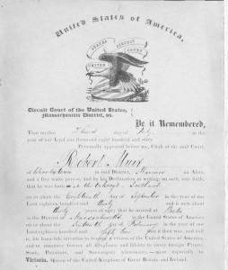 Robert Muir naturalization
