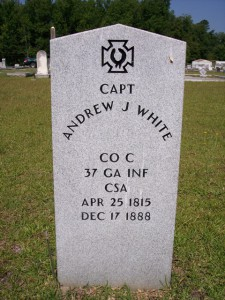 Andrew J White gravestone