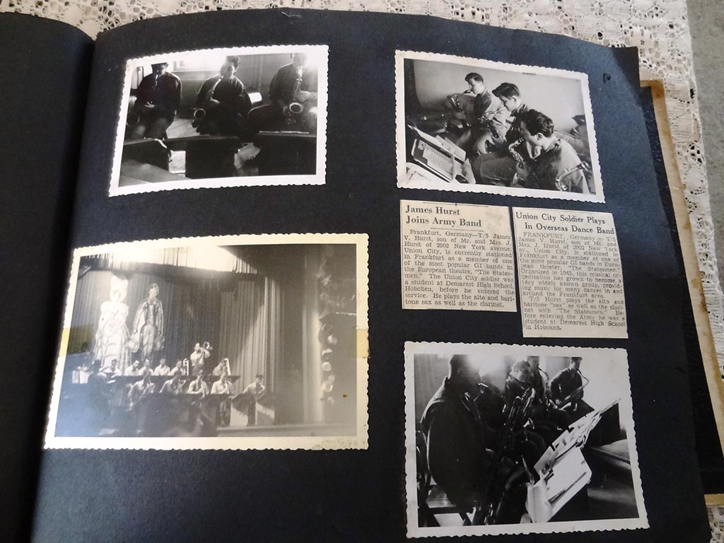 How to scrapbook newspaper clippings - My Grandfather Had Completely Forgotten That He Made A Scrapbook Of His Photographs Telegrams Newspaper Clippings And Cards From His Service In The Usfet
