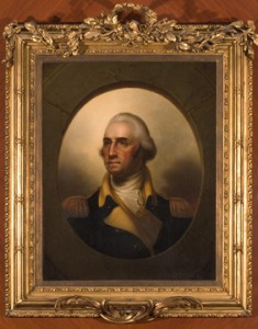 George Washington portrait; Rembrandt Peale (1778-1860), NEHGS Rotunda, Boston.