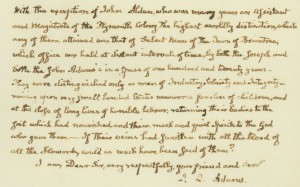 """""""John Quincy Adams letter,"""" Mss 1033, R. Stanton Avery Special Collections, NEHGS."""
