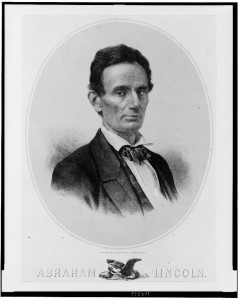 Abraham Lincoln in 1850, the year after he represented George D. Berry in a lawsuit. Lithograph by Edw. Mendel, Library of Congress Prints and Photographs Division, LC-USZ62-102366.
