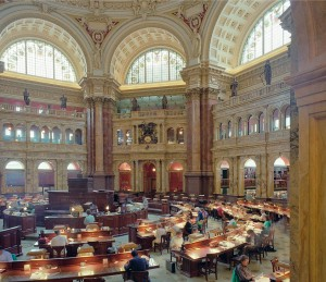 Reading Room at the Library of Congress.