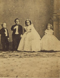 General and Mrs. Tom Thumb wedding party