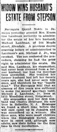 The Brooklyn Standard Union, 19 Dec. 1920, p. 3, accessed at fultonhistory.com.