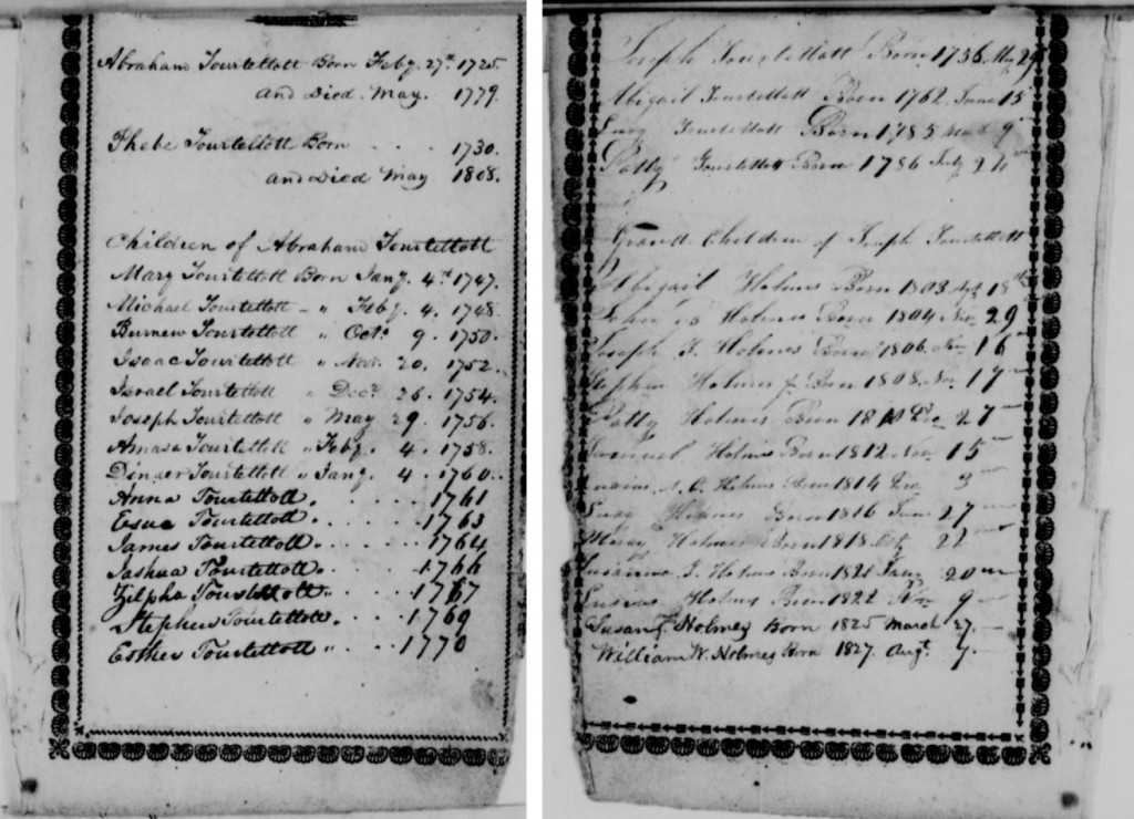 Revolutionary War pension record of Joseph Tourtellotte, as viewed at fold3.com.