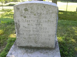 Gravestone of Morris Larned Healy. Findagrave.com.