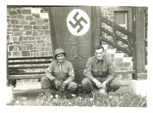 U.S. Army troops in Germany, 1945. Photograph by Herbert Gorfinkle. From the Papers of Herbert Gorfinkle, P-904 at the American Jewish Historical Society-New England Archives.