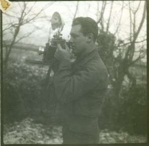 The photographer at work. Photo of Herbert Gorfinkle. From the Papers of Herbert Gorfinkle, P-904 at the American Jewish Historical Society-New England Archives.
