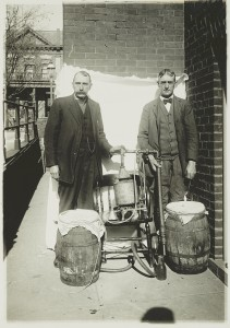 Two men with a whiskey still, sometime between 1920 and 1930. Library of Congress Prints and Photographs Division.