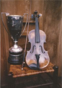 Mortimer Brooks loving cup  and violin