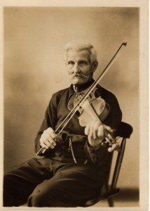 Mortimer Brooks with violin