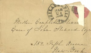 Catharine Steward envelope 1864