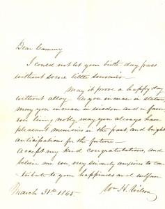 William Hude Neilson letter