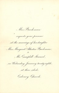 Beeckman Steward wedding invitation