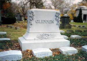 Glidden monument in Cleveland