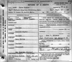 Annie Hughes death