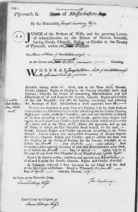 Joseph Alden Letter