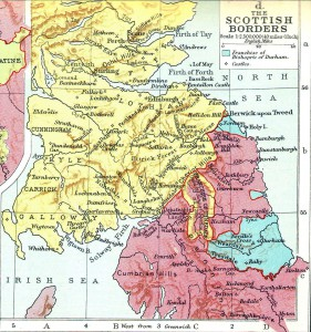 Scottish border map
