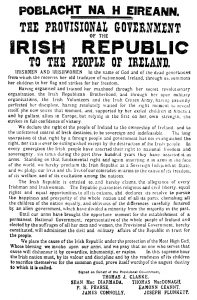 Easter Proclamation 1916
