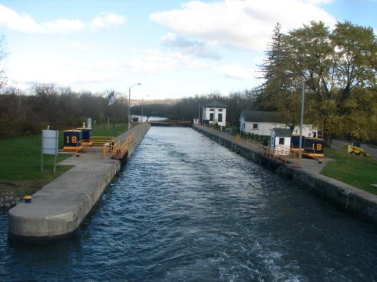 Lock along the Erie Canal