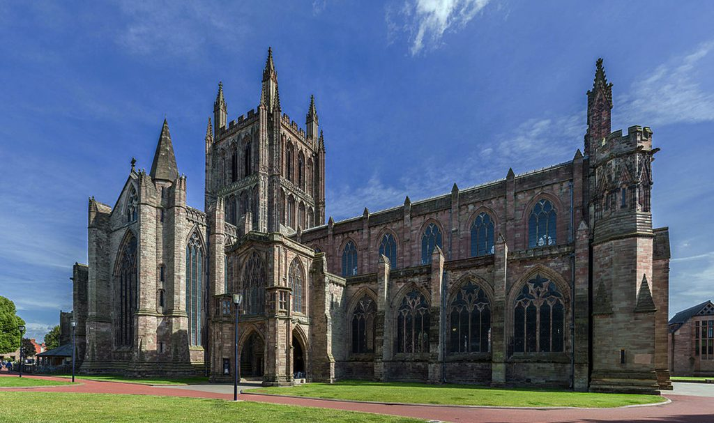 Hereford_Cathedral_Photo by DAVID ILIFF. License CC-BY-SA 3.0