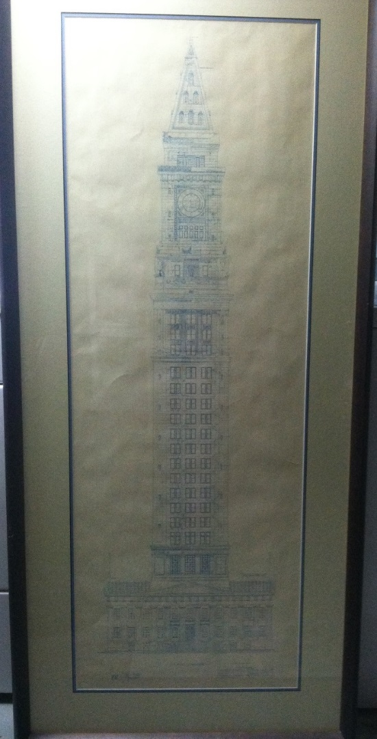 A boston blueprint vita brevis specifically it was a copy of the original blueprints for the us custom house tower in boston malvernweather Choice Image
